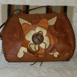 Patricia Nash Flower Applique Shoulder Bag